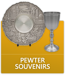 Pewter Trophy, Plaque & Souvenirs