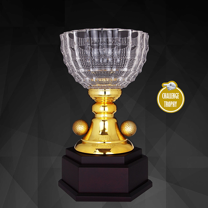 9201 - Exclusive Crystal Golf Trophy