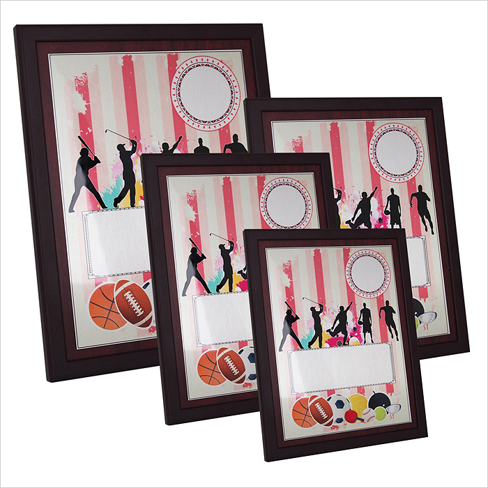 4167 - Wooden Plaque with Plastic Stand