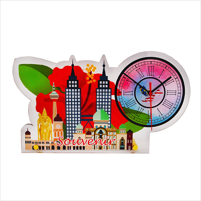 4266 - Acrylic Plaque With Clock