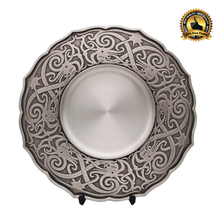 7223 - Traditional Motion Pewter Tray
