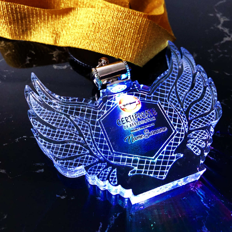5084 - Acrylic Lighting Hanging Medal