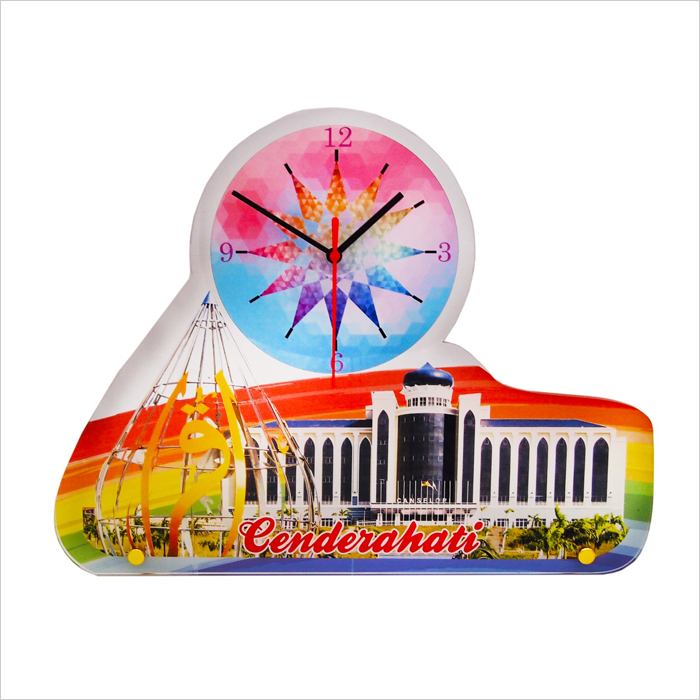 4267 - Acrylic Plaque With Clock