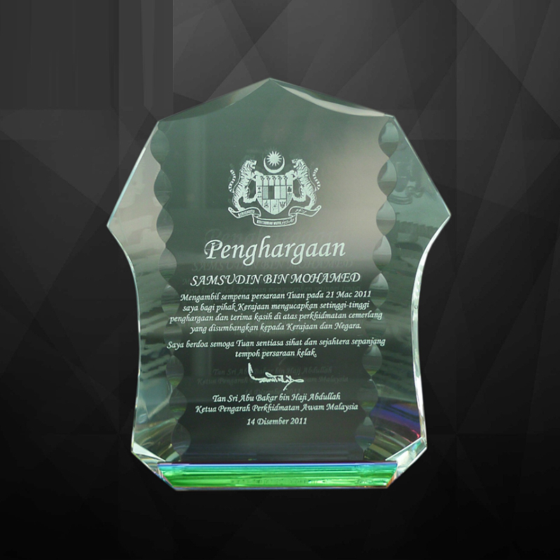9001 - Exclusive Crystal Plaques