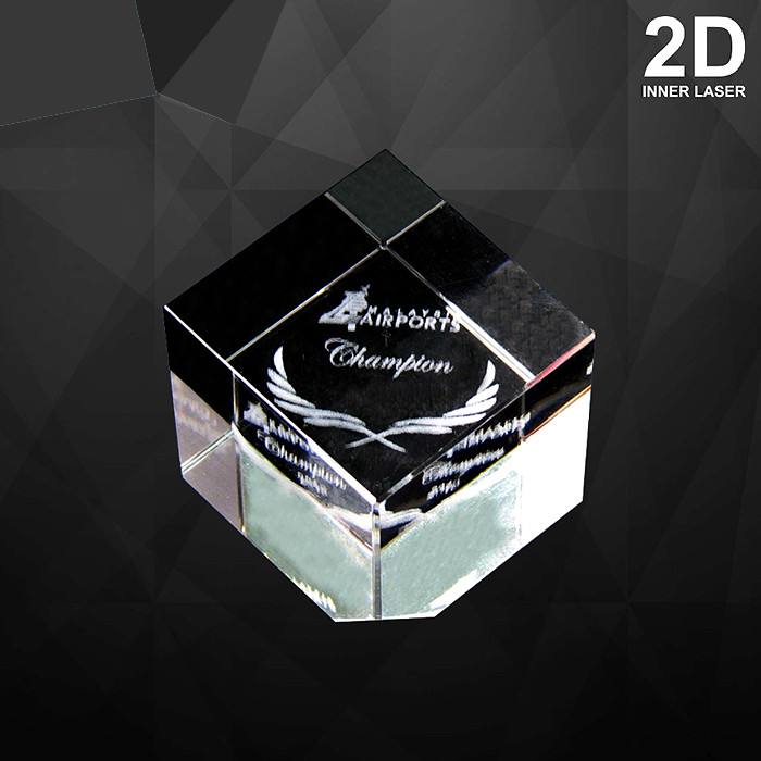 9046 - Square Crystal Paper Weight